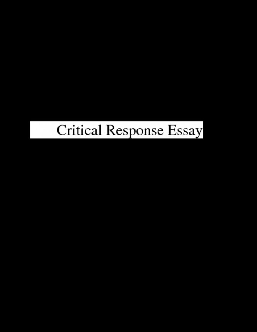 006 Fixed Essay Laenglishpage0 Example Critical Singular Response A Sound Of Thunder And Nethergrave