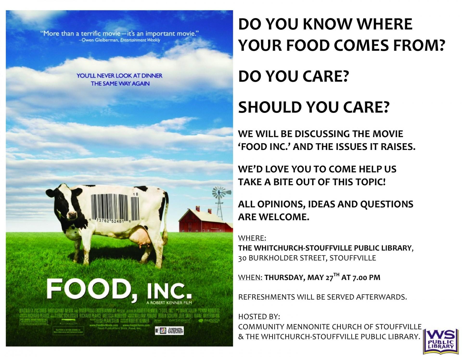 006 Food20inc 20poster20iii Food Inc Essay Top Questions Topics Pdf 1920