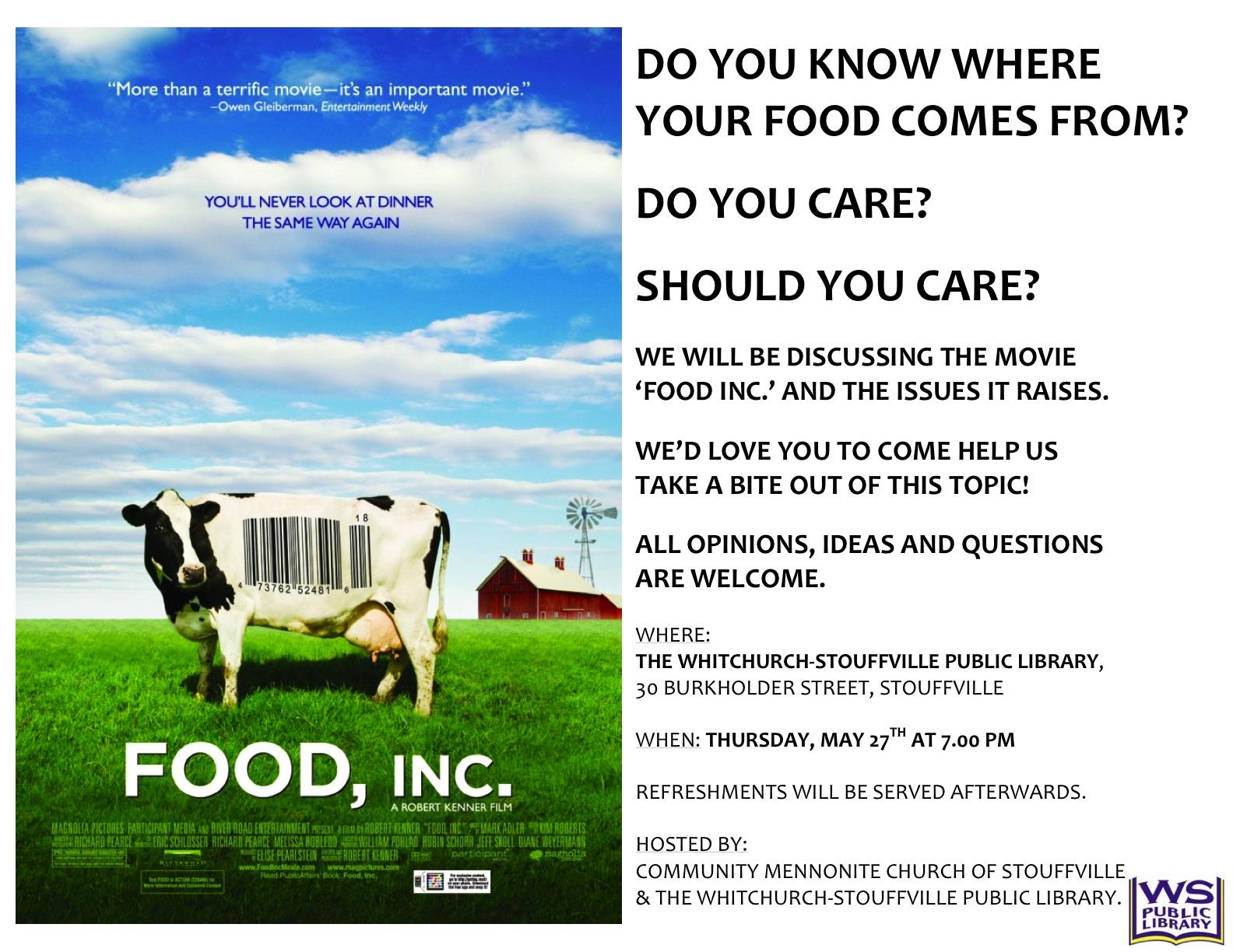 006 Food20inc 20poster20iii Food Inc Essay Top Questions Topics Pdf Full