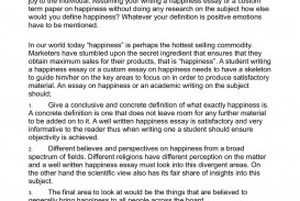 006 Happiness Definition Essay P1 Imposing Title Outline