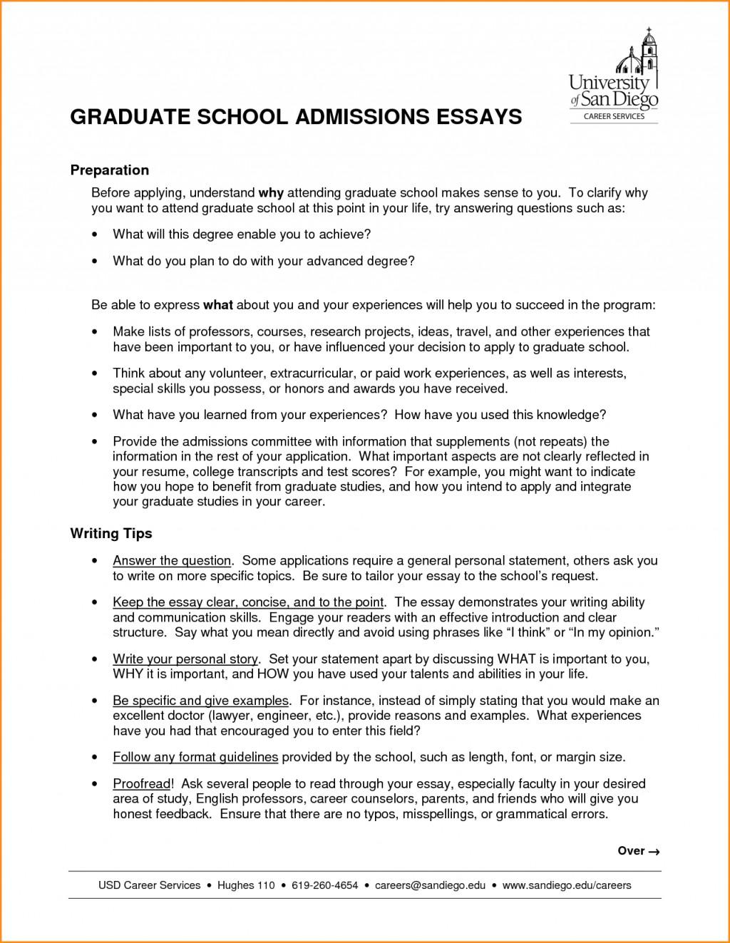 early high school graduation essay