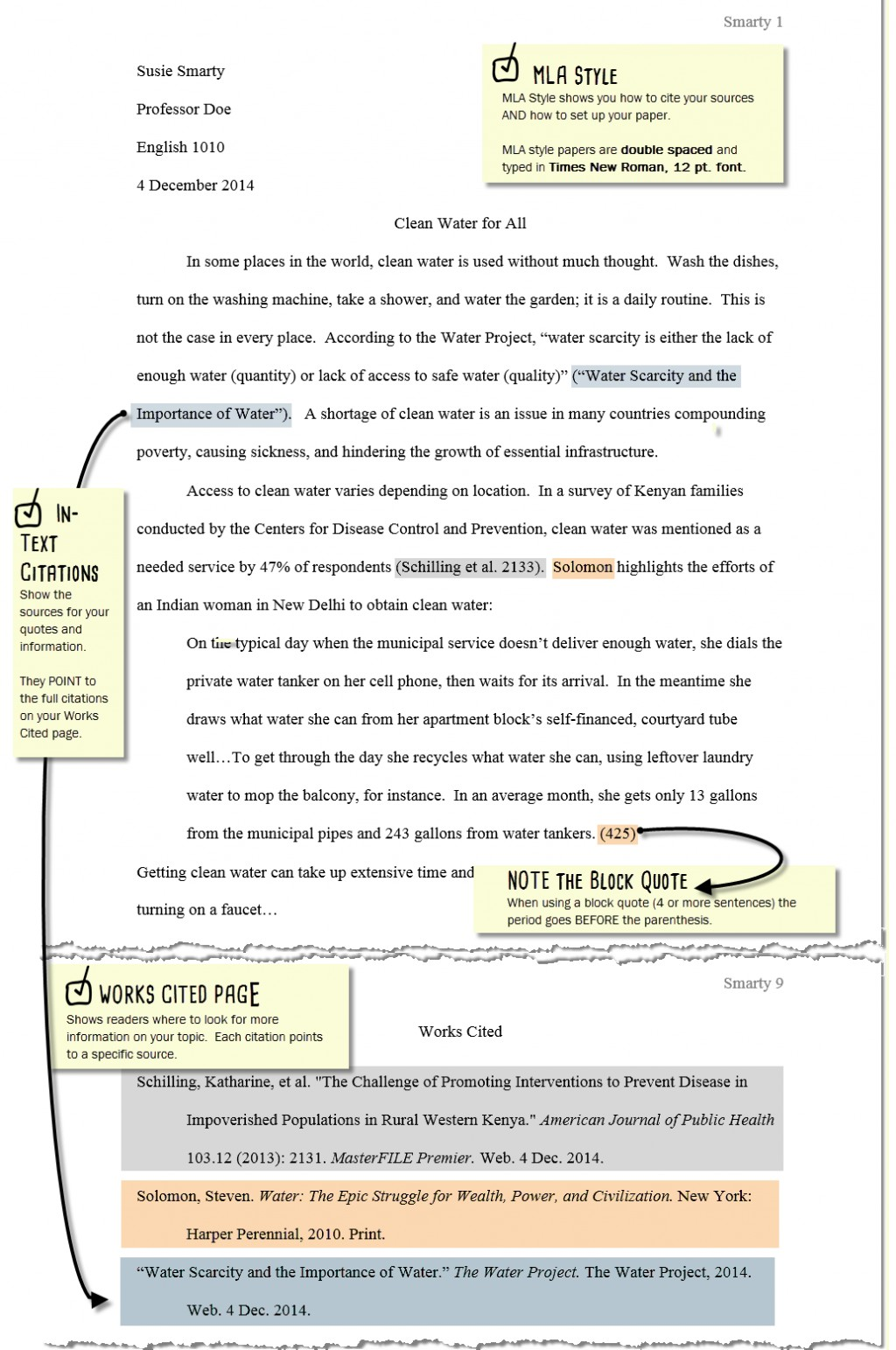 006 How To Cite In An Essay Mla Example Sample Paper Updated Blues Sw Archaicawful Sources Websites Movies A Large