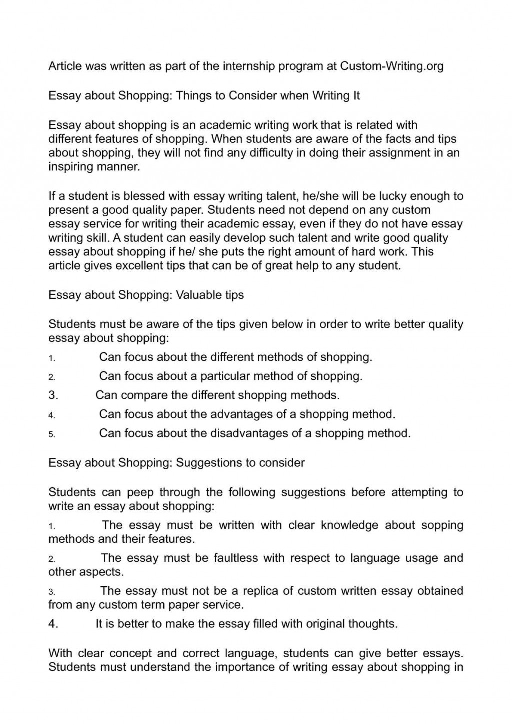 006 How To List Things In An Essay About Shopping Consider When Writing It Of Write Topics What Funny Random Informative Myself Yourself For College Fearsome Correct Way Best Large