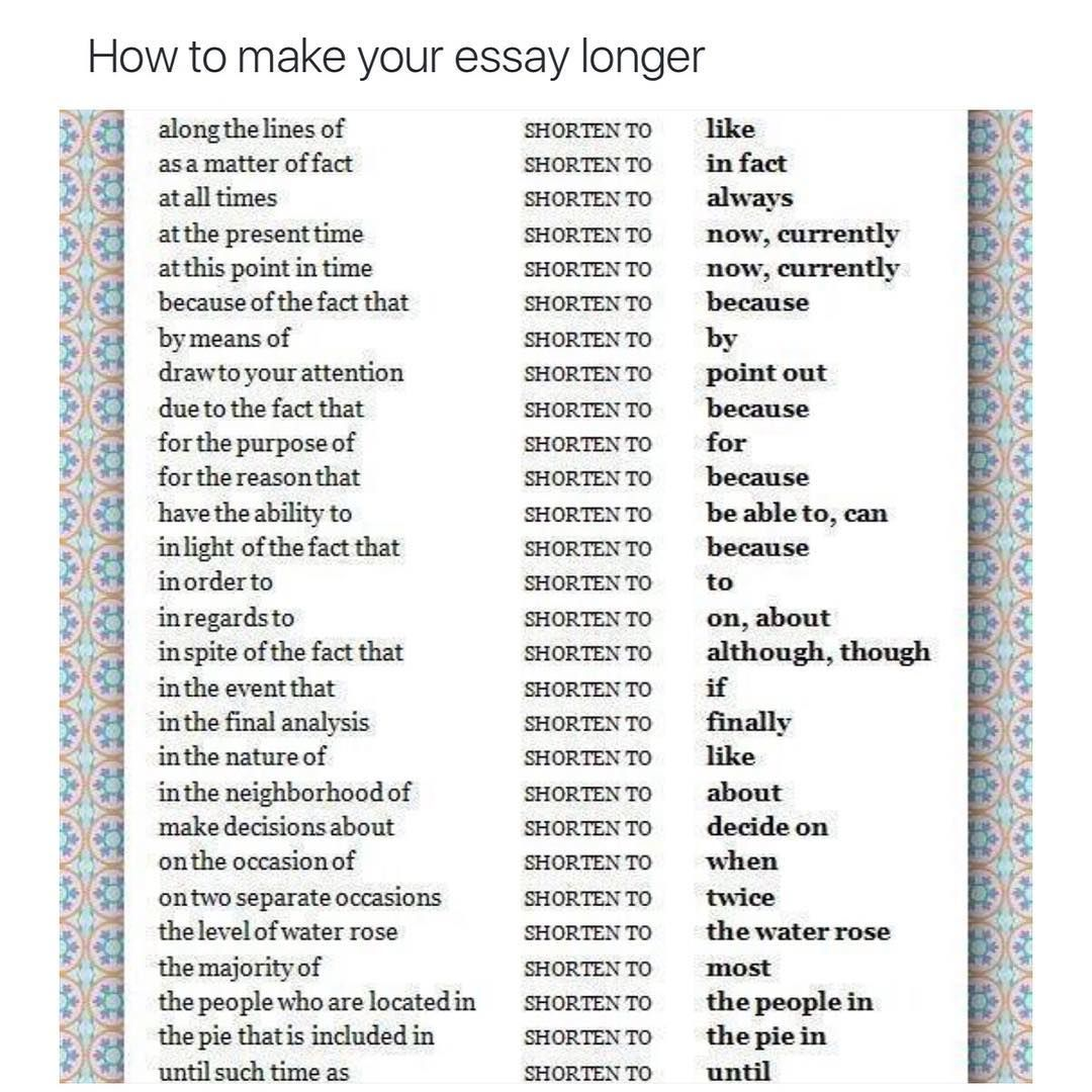 006 How To Make An Essay Longer Word Count Example Top Full
