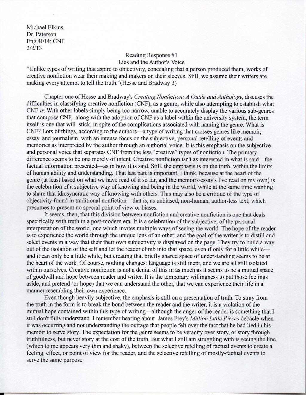 006 Img975 Reader Response Essay Amazing Assignment Examples On The Story Of An Hour Large