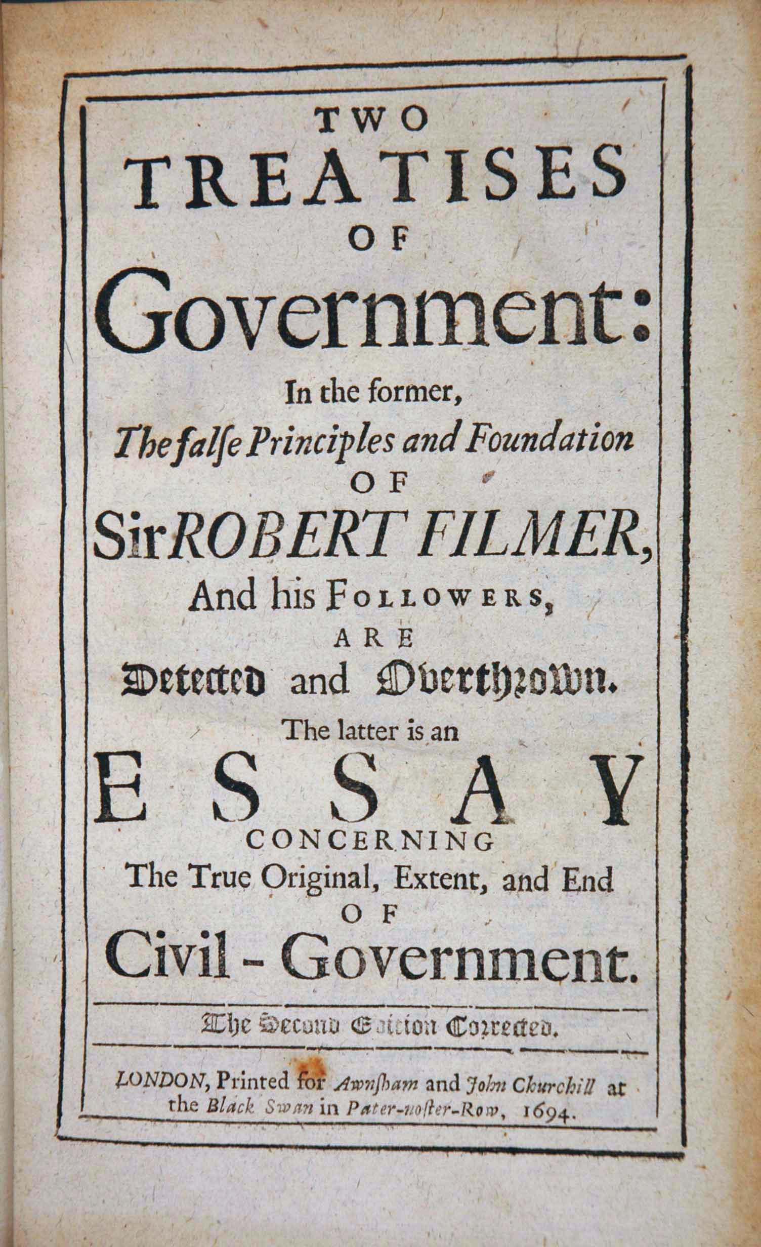 006 John Locke Essay Two Treatise Impressive Concerning Human Understanding Book 4 On Pdf Summary Full