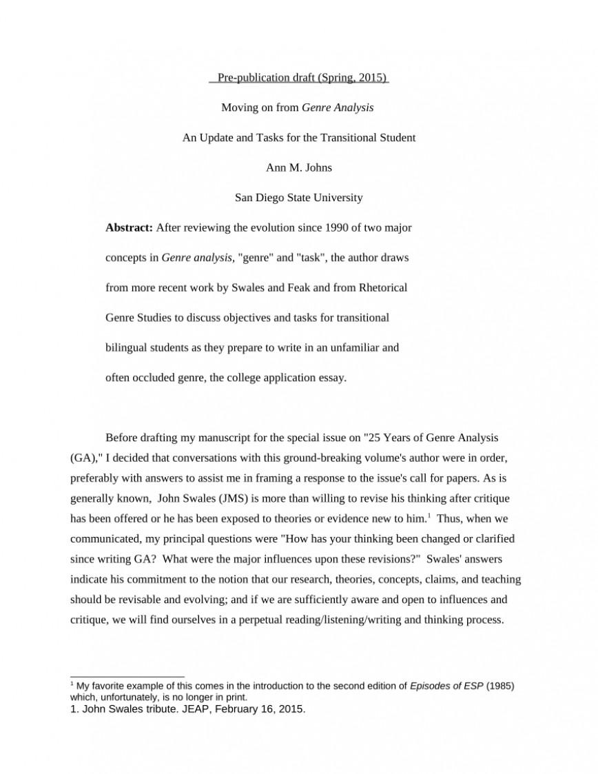 002 Essay Example Genre That Teaches Critical ~ Thatsnotus