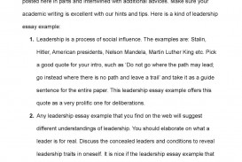 006 Leadership Essay Example Awesome Student Nhs Examples Pdf