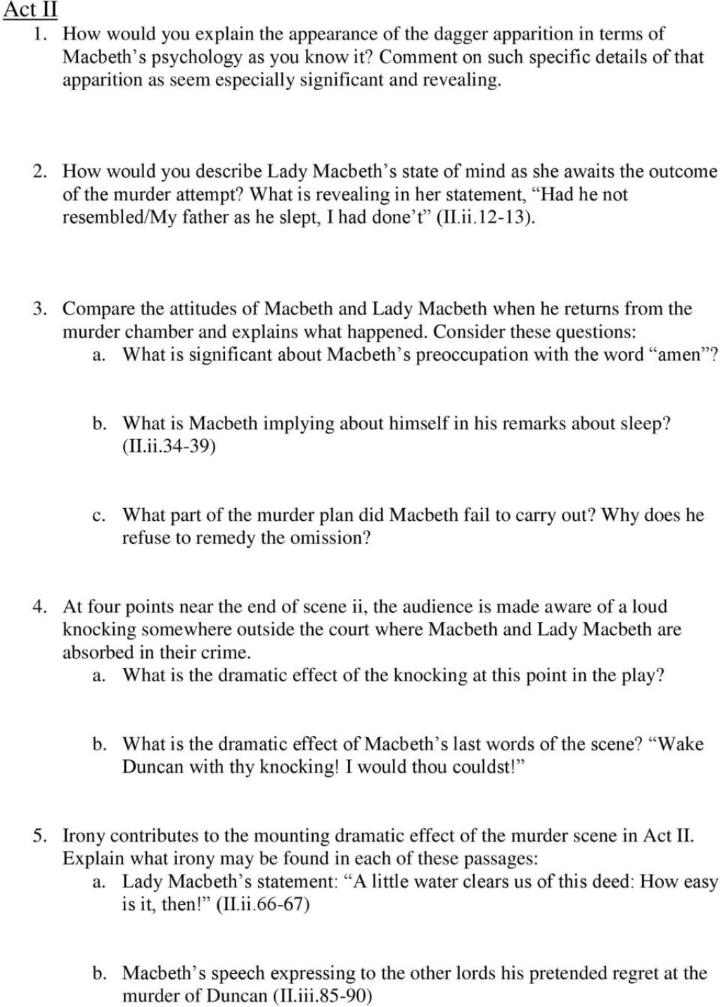 006 Macbeth Essay Questions Topics For How To Write Scholarships P Lord Of The Flies Examples Middle School Apply Texas College Applications Kill Mockingbird Common App Fahrenheit Example Surprising Pdf Grade 11 Tragic Hero Large