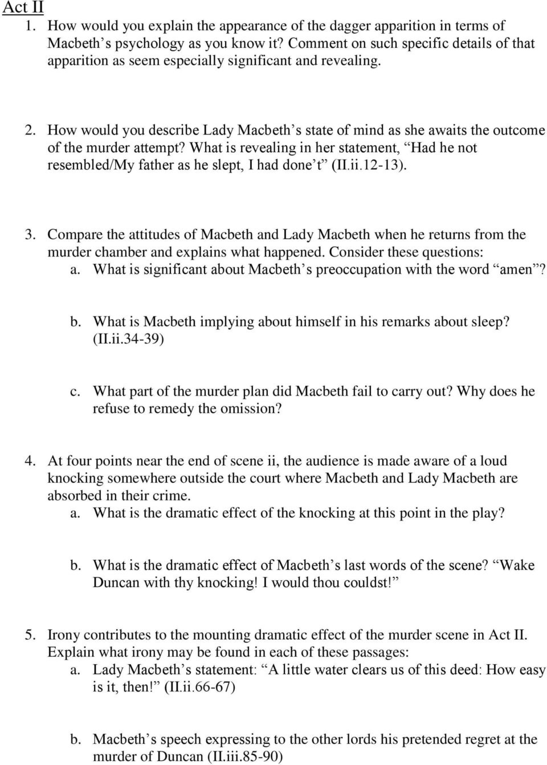 006 Macbeth Essay Questions Topics For How To Write Scholarships P Lord Of The Flies Examples Middle School Apply Texas College Applications Kill Mockingbird Common App Fahrenheit Example Surprising Pdf Grade 11 Tragic Hero 1920
