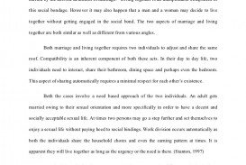 living together before marriage essay conclusion