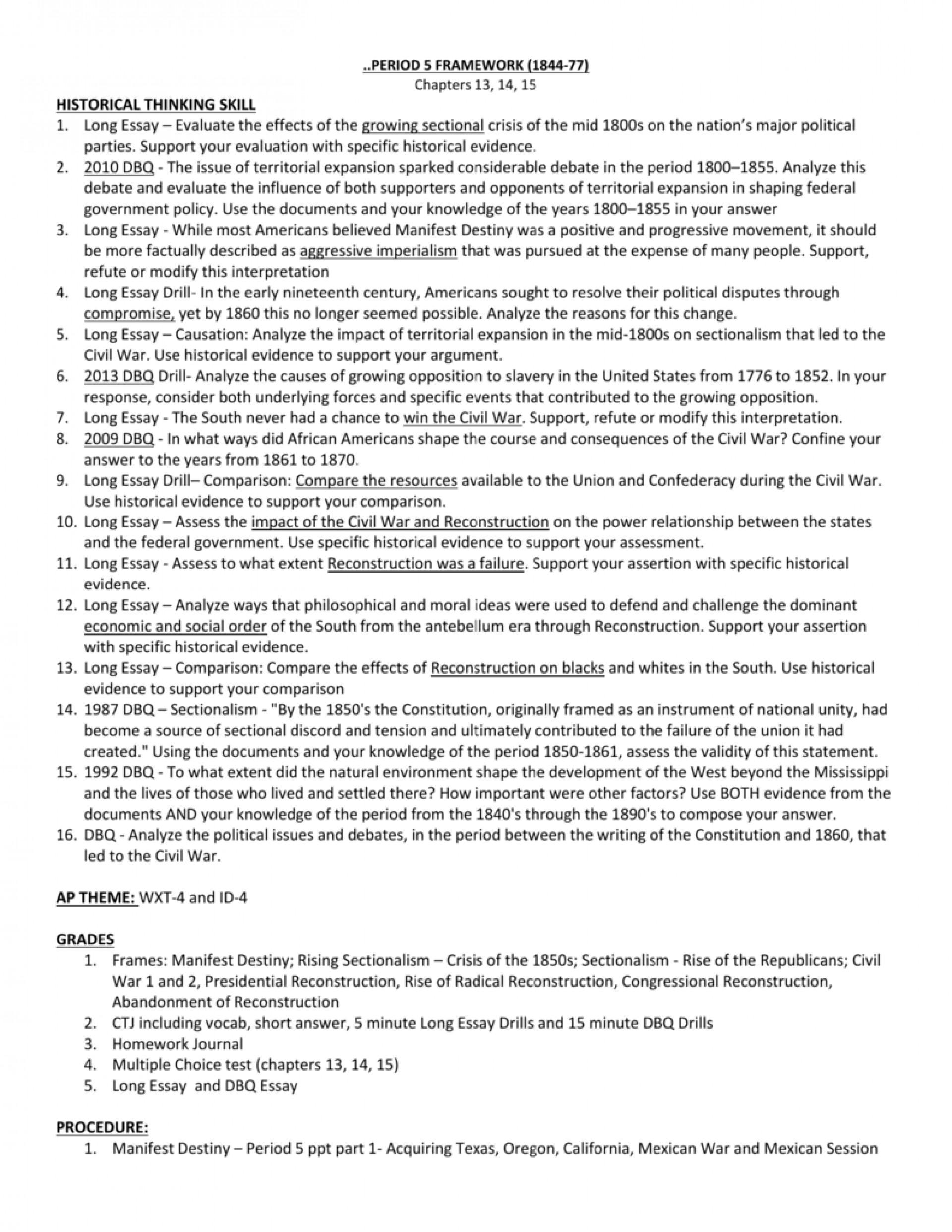 006 Manifest Destiny Essay 007190351 1 Impressive Prompt Outline Introduction 1920