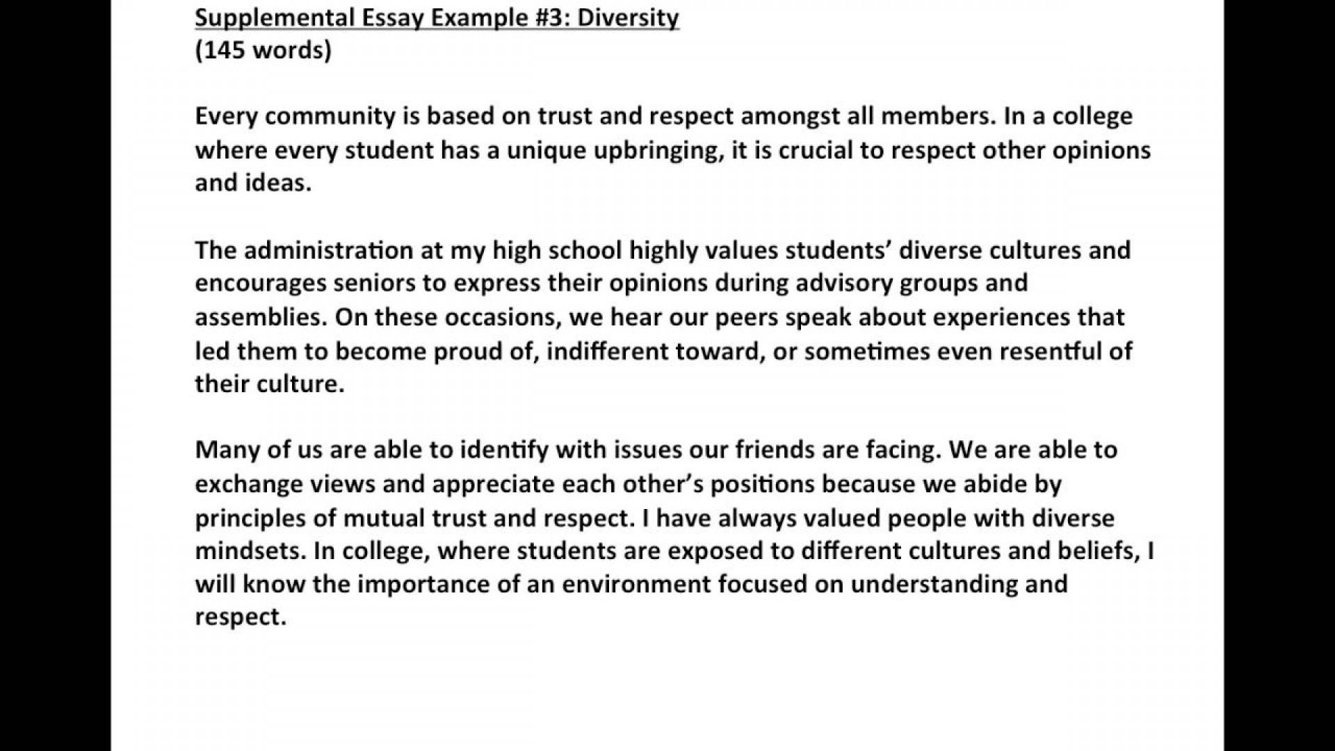 College application essay help online diversity