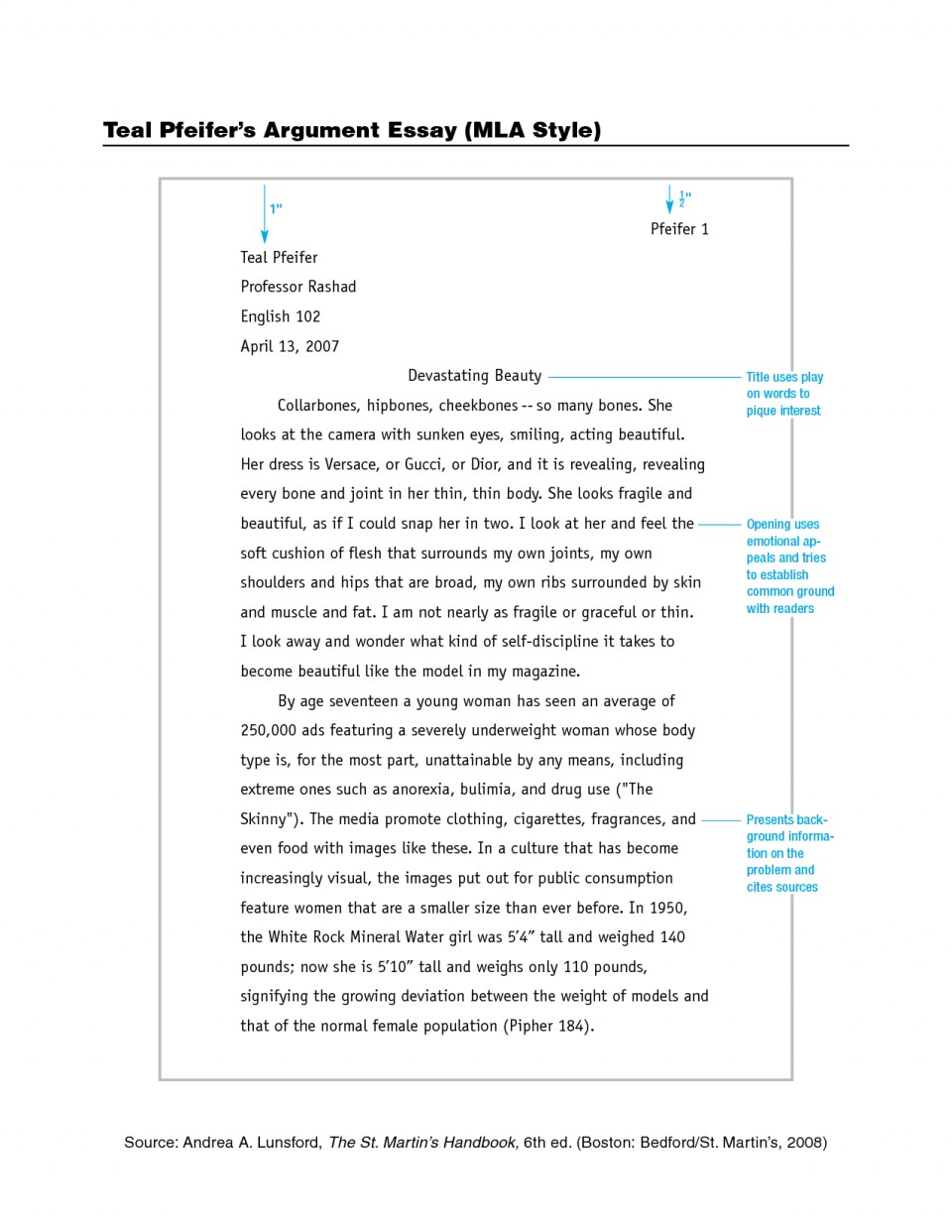006 Mla Format Essay Stirring Header Font Example 2018 960
