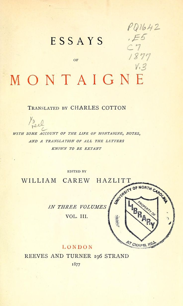 006 Montaigne Essays Pdf Essay Stirring Deutsch English Penguin Full
