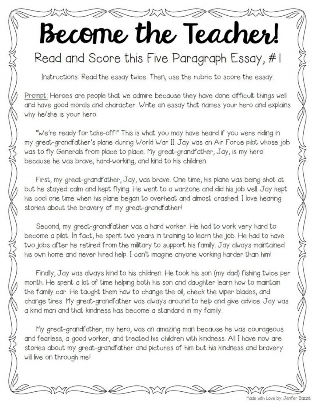 006 My Hero Essay Example Tips For Teaching And Grading Five Paragraph Essays Full Narrative Examples Persuasive Score Sat Wondrous In History With Outline Favourite Salman Khan English National Large