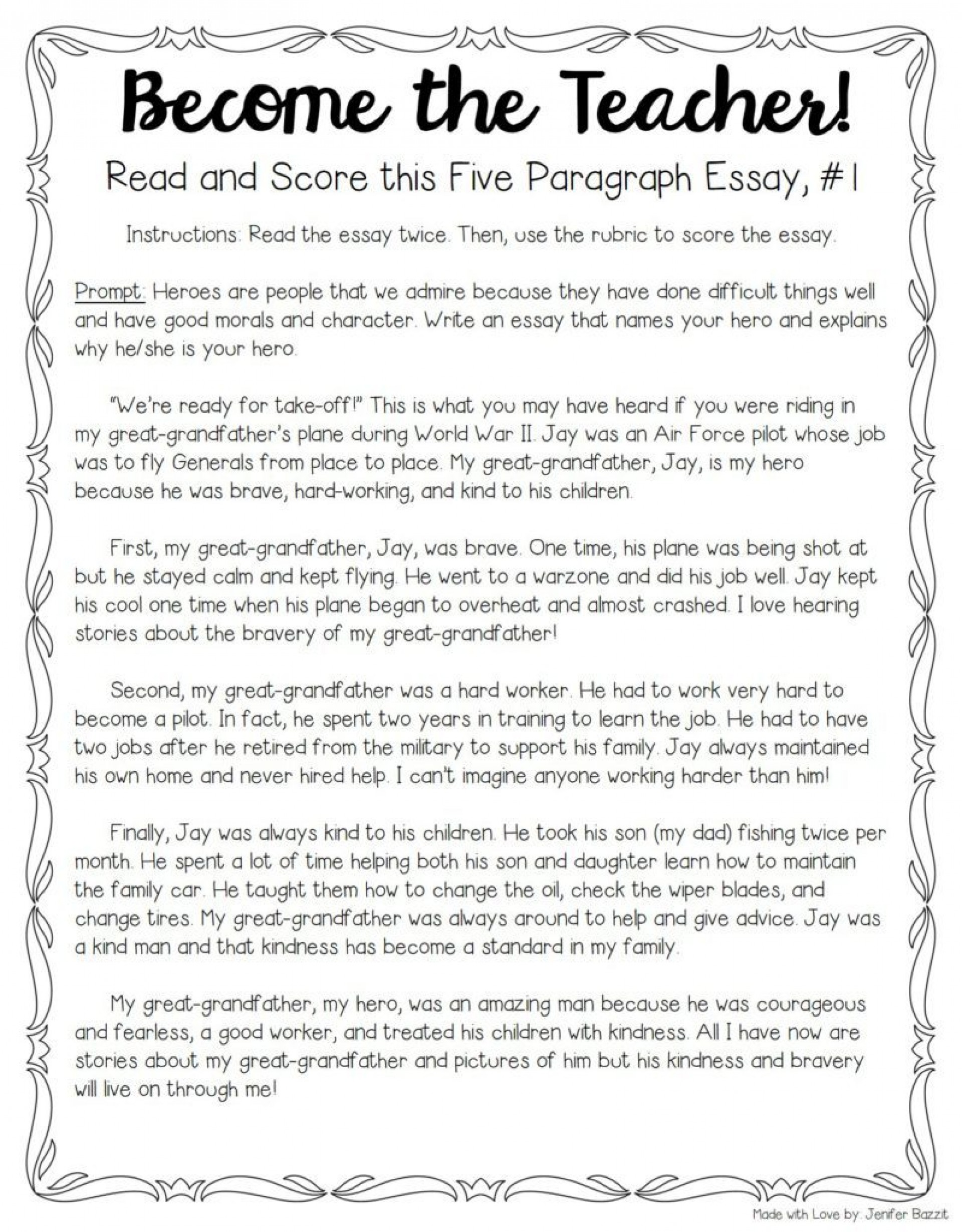 006 My Hero Essay Example Tips For Teaching And Grading Five Paragraph Essays Full Narrative Examples Persuasive Score Sat Wondrous In History With Outline Favourite Salman Khan English National 1920