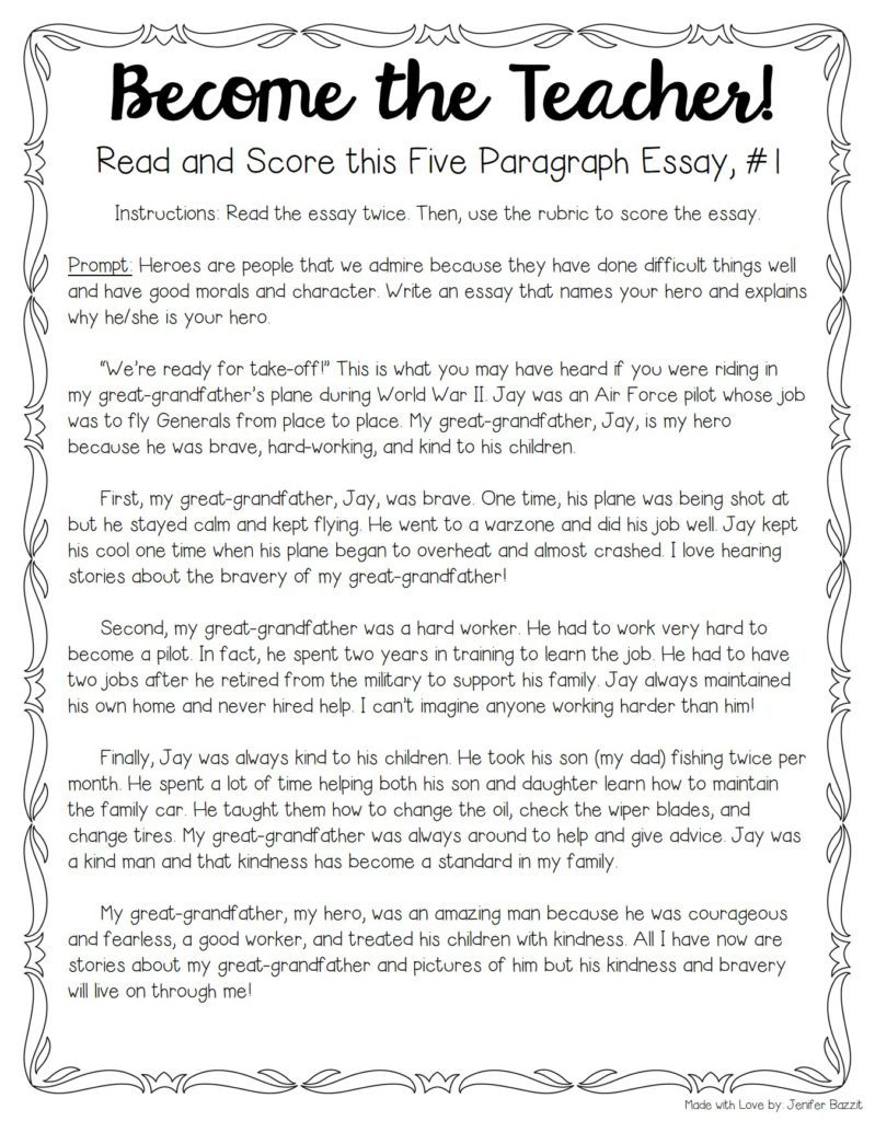 006 My Hero Essay Example Tips For Teaching And Grading Five Paragraph Essays Full Narrative Examples Persuasive Score Sat Wondrous In History With Outline Favourite Salman Khan English National Full