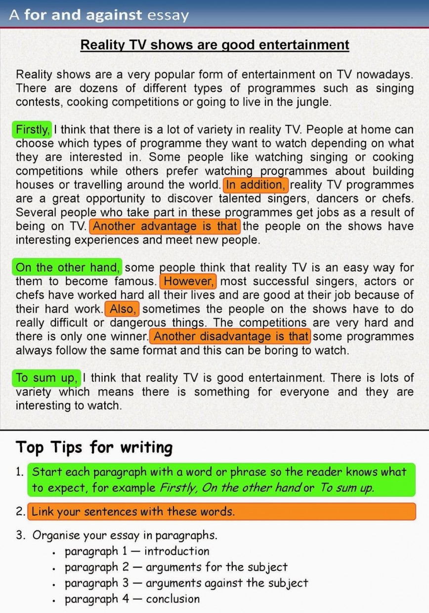 006 Opinion Essay Examples Example Staggering Free Ielts 4th Grade