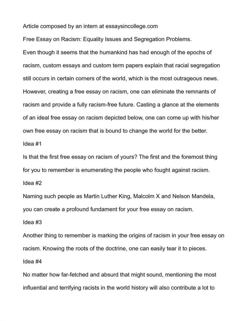 006 P1 Essay Example About Rare Racism In Malaysia Othello Pdf