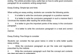 006 P1 How To End Paragraph In An Essay Outstanding A Start Conclusion Persuasive Write Expository