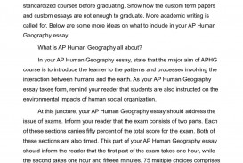 006 P1 Human Geography Essays Stunning Essay Examples Ap Free Response