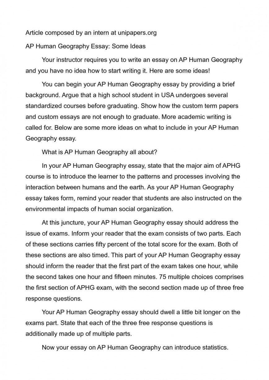 006 P1 Human Geography Essays Stunning Essay Examples Ap Practice Free Response