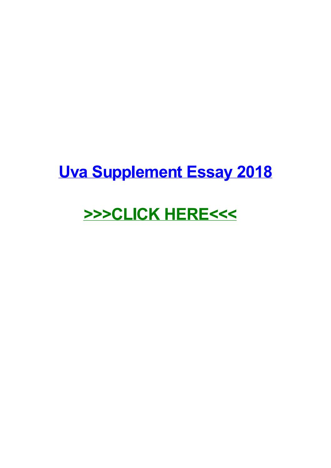 006 Page 1 Essay Example Uva Rare Supplement Tips 2017 2016 Full