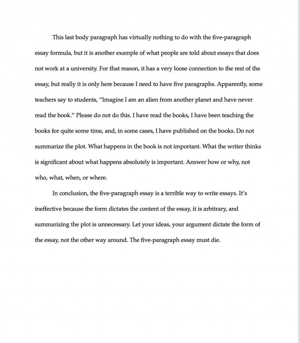 006 Paragraph Essay Example Exceptional 3 Elementary Outline Large