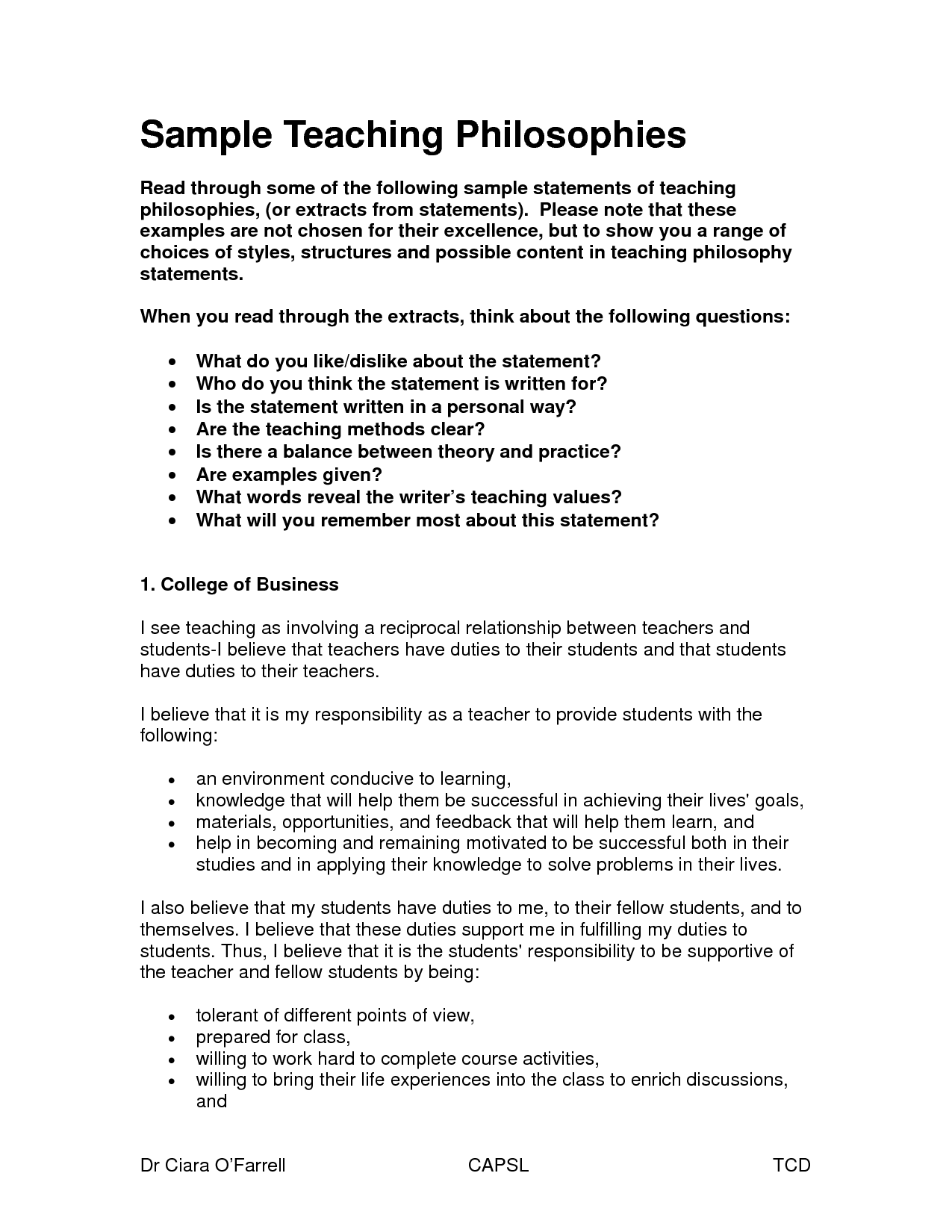 006 Philosophy Of Teaching Essay Dreaded My Personal And Learning Education Pdf Full