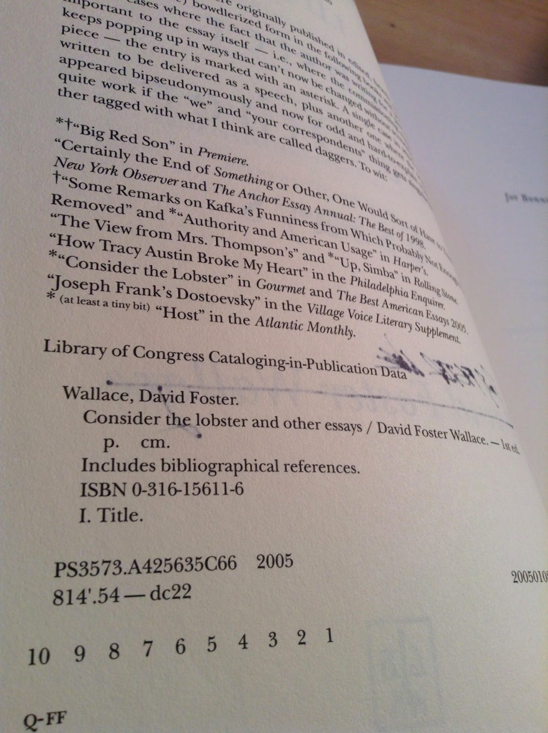 006 Photo Essay Example Consider The Exceptional Lobster Rhetorical Analysis And Other Essays Summary 1920