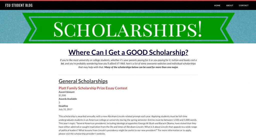 006 Platt Family Scholarship Prize Essay Contest Screen Shot At Am Orig Outstanding Large