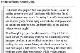 006 Racism Essay Malcolm X On For Modern American Black Lives Matter Persuasive Marvelous Conclusion Pdf Tkam