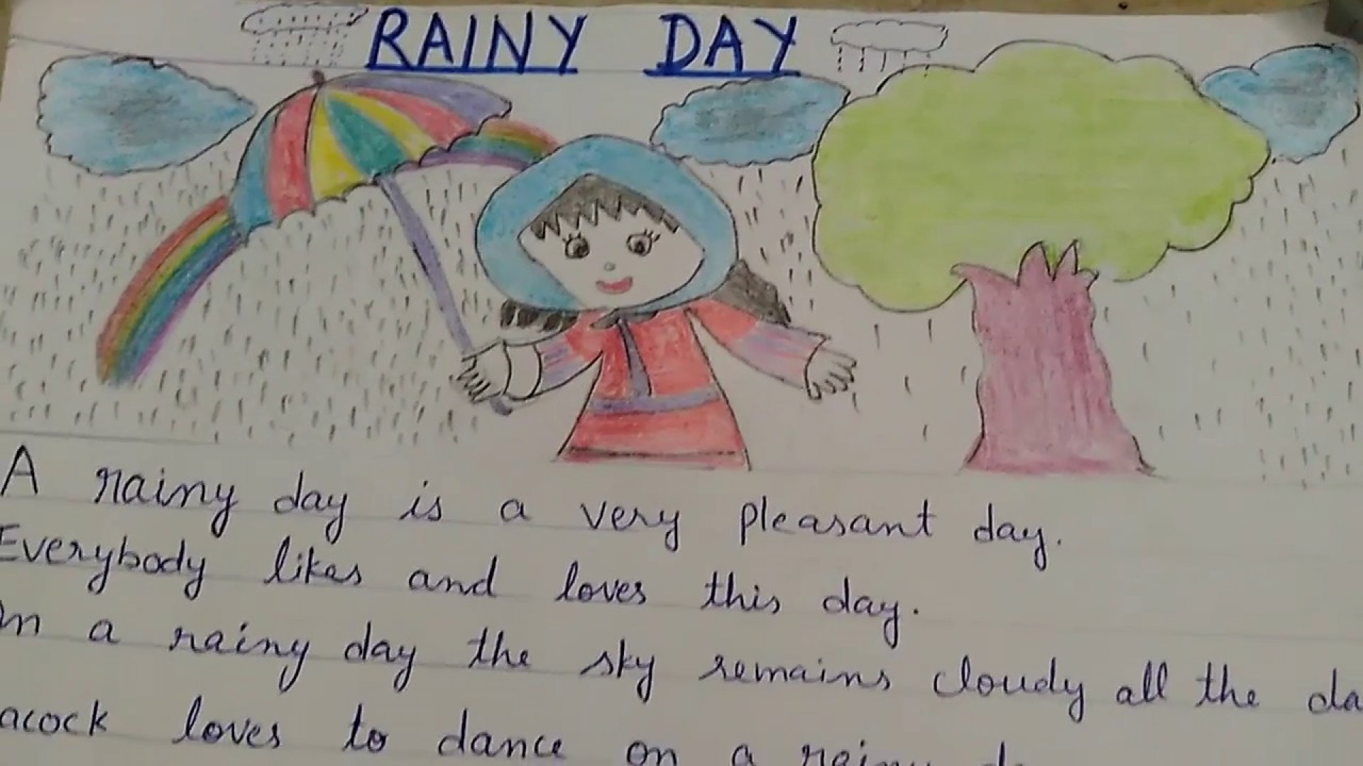 006 Rainy Day Essay English Maxresdefault Stupendous My In For Class 6 10 1920