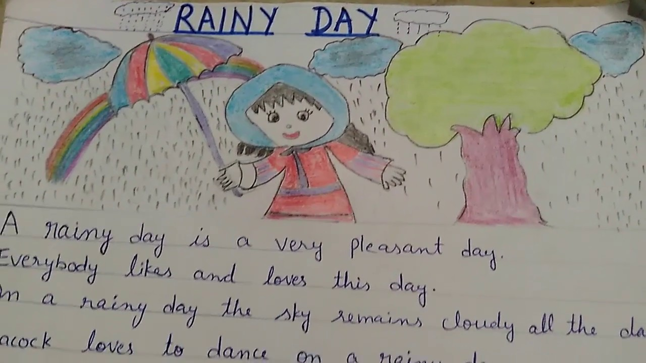 006 Rainy Day Essay English Maxresdefault Stupendous My In For Class 6 10 Full