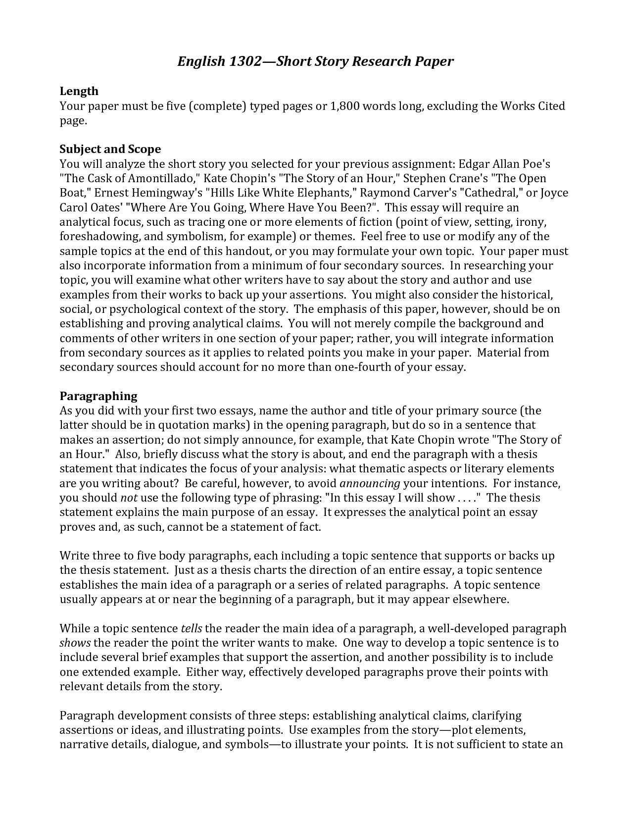 006 Research Paper Essay Imposing Format Example Sample Full