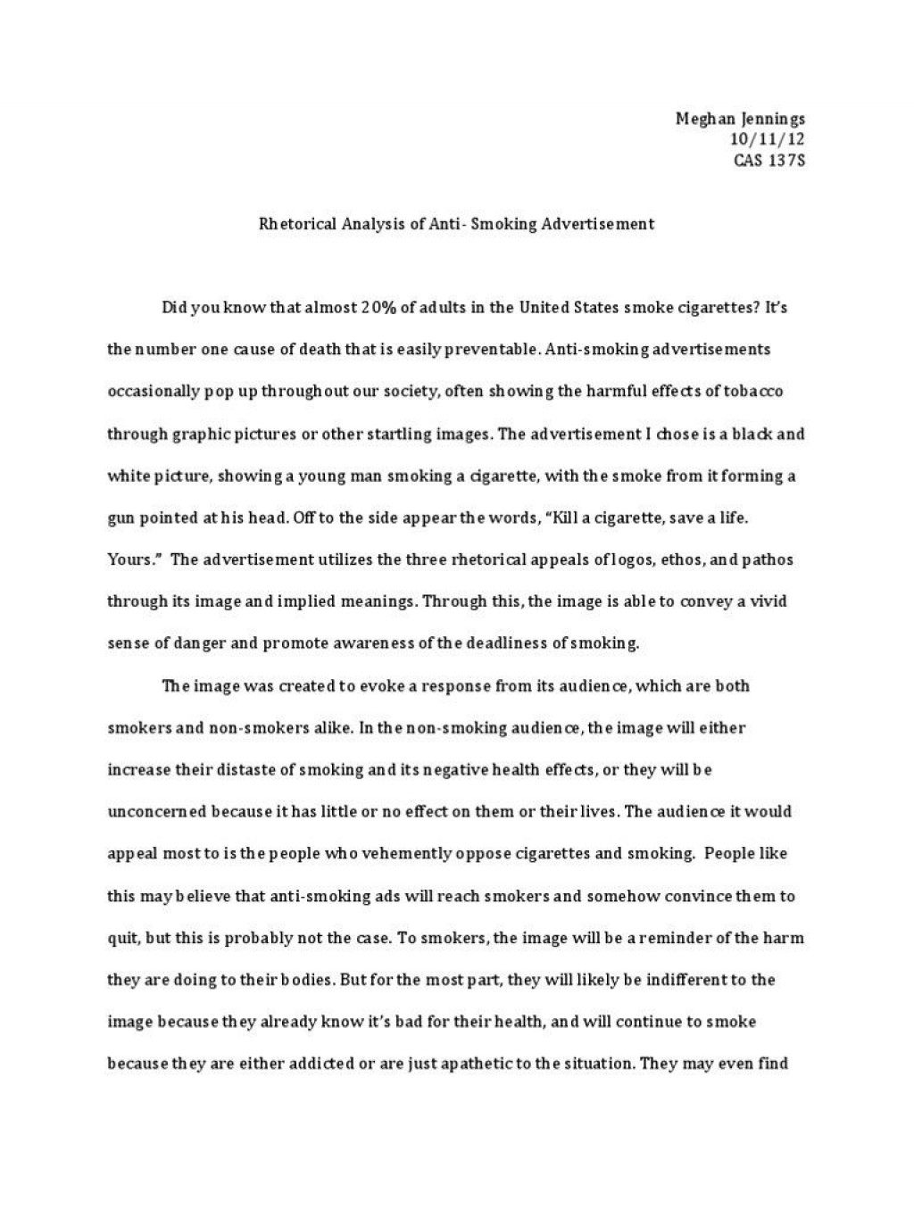 006 Rhetorical Essays Visual Analysis Essay Example Direction Evaluation Also Ethical Issue Of Striking Topics Strategies Examples College Question Large