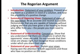 006 Rogerian Argument Essay Example Staggering Topics