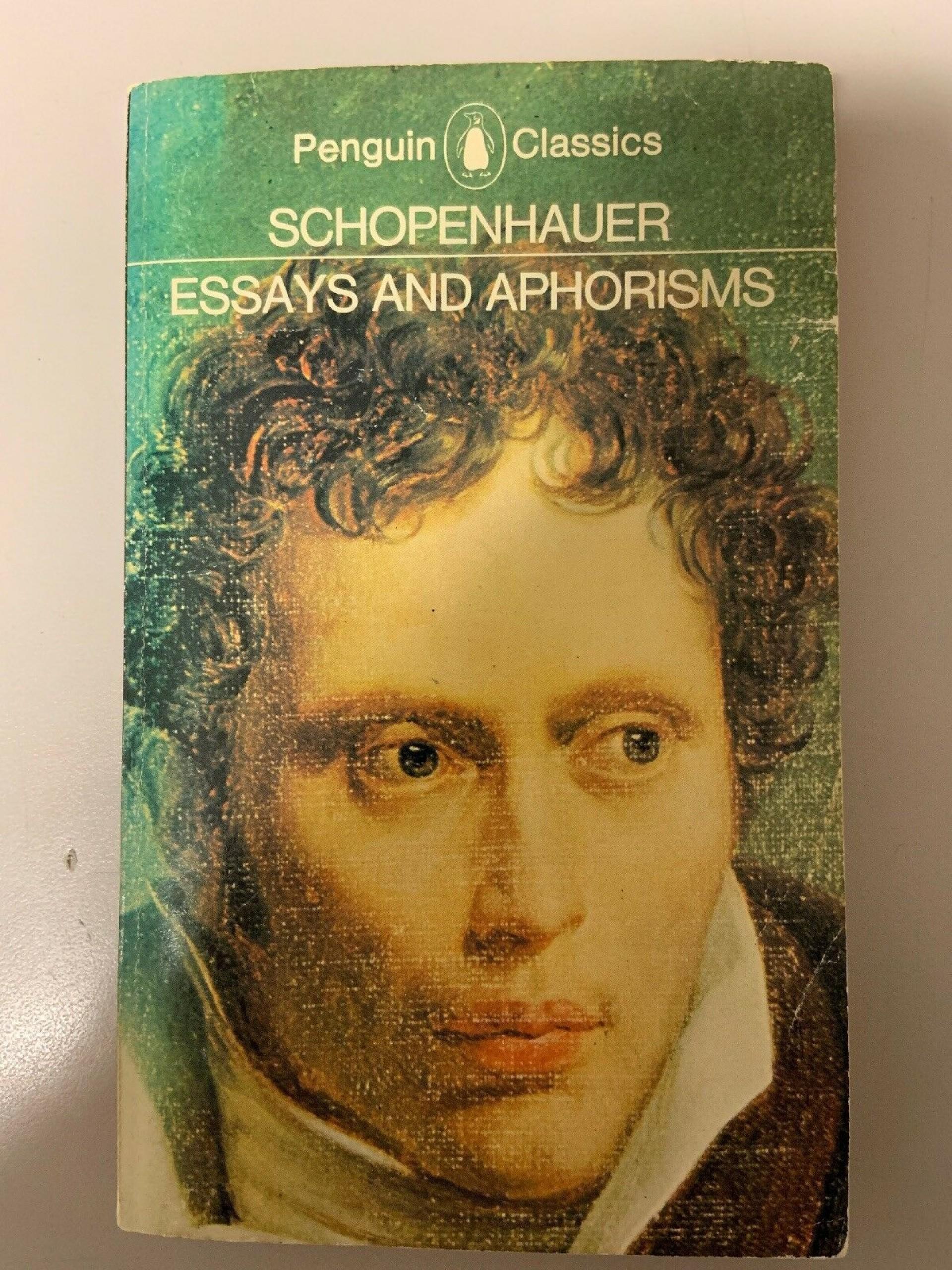 006 S L1600 Essays And Aphorisms Essay Frightening By Arthur Schopenhauer Pdf 1920