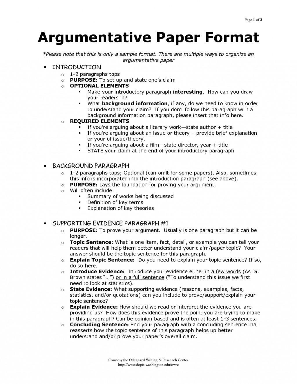 006 Sample Argumentative Essay Awful Outline Pdf Mla Format Grade 6 Large