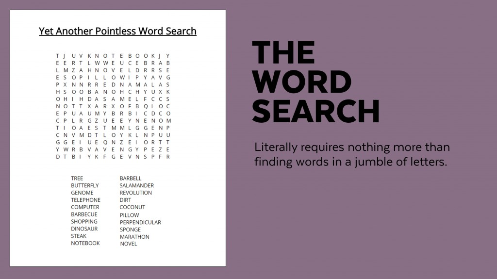 006 Sample Word Search Essay Example Superfluous Part Of An Awesome Crossword Clue Large