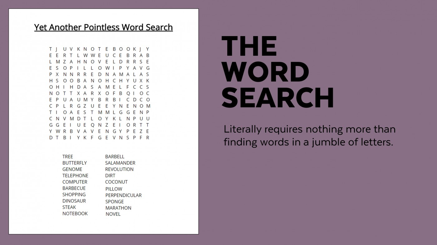 006 Sample Word Search Essay Example Superfluous Part Of An Awesome Crossword Clue 1400
