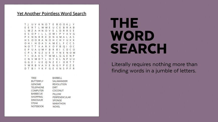 006 Sample Word Search Essay Example Superfluous Part Of An Awesome Crossword Clue 868