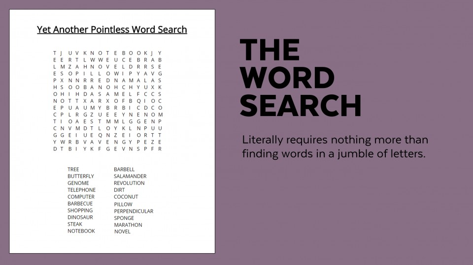 006 Sample Word Search Essay Example Superfluous Part Of An Awesome Crossword Clue 960
