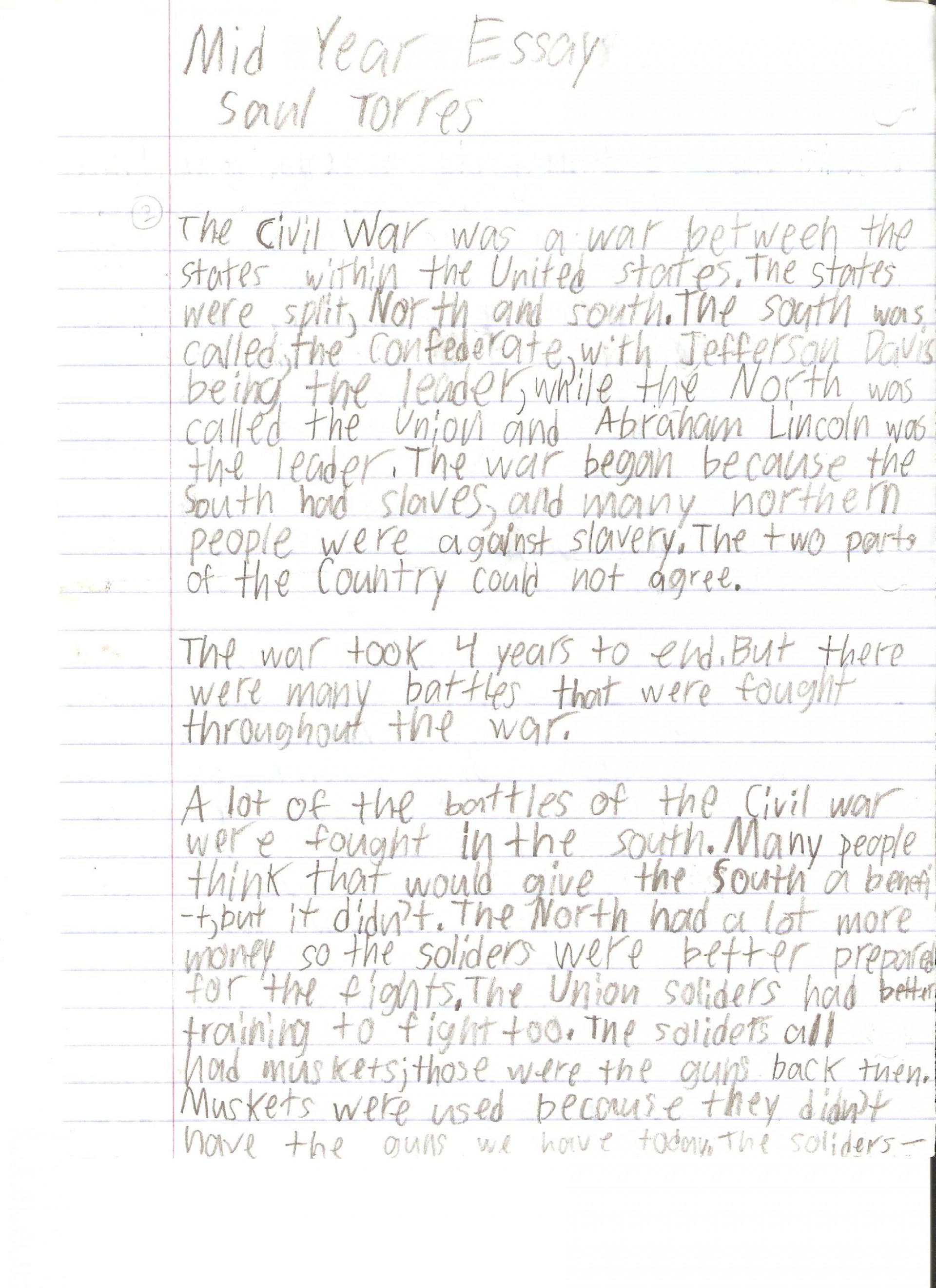 006 Saul Torres Essay Example 6th Grade Fantastic Examples Informative Personal 1920