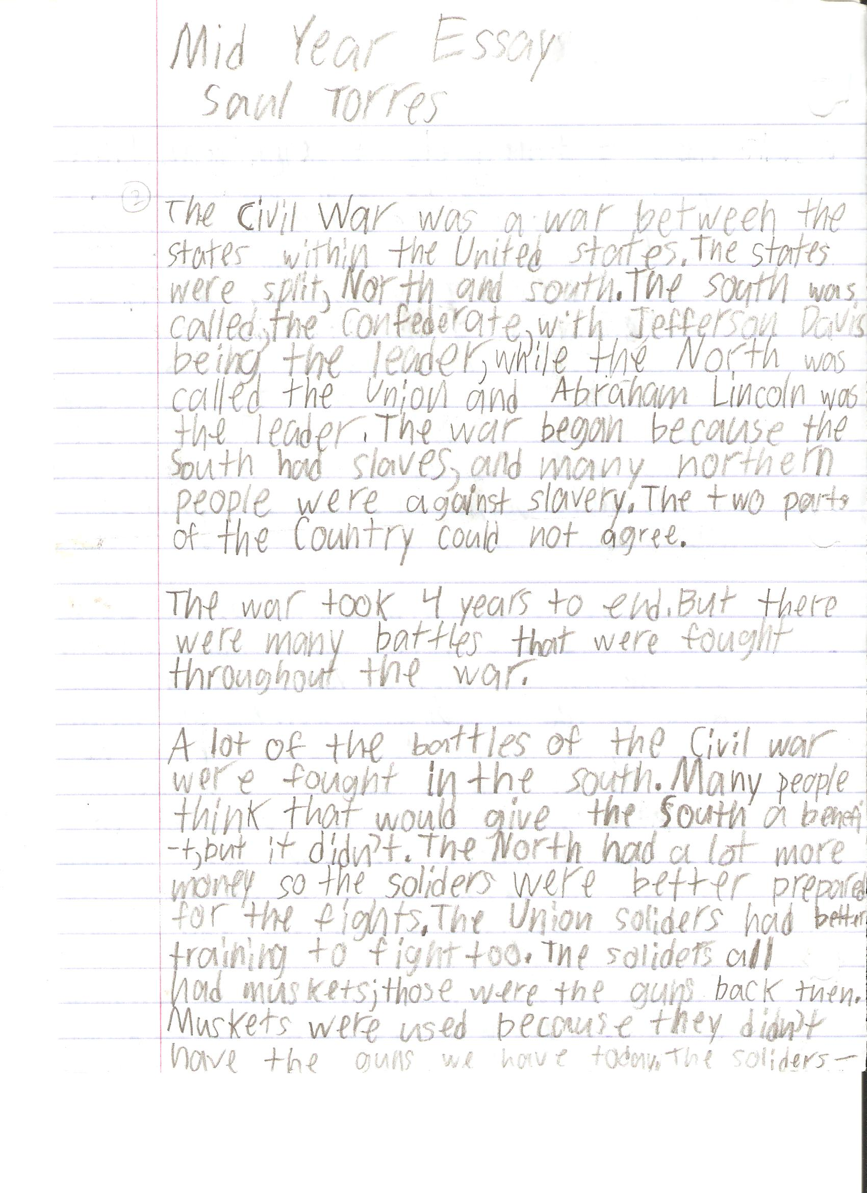 006 Saul Torres Essay Example 6th Grade Fantastic Examples Narrative Writing Literary Full