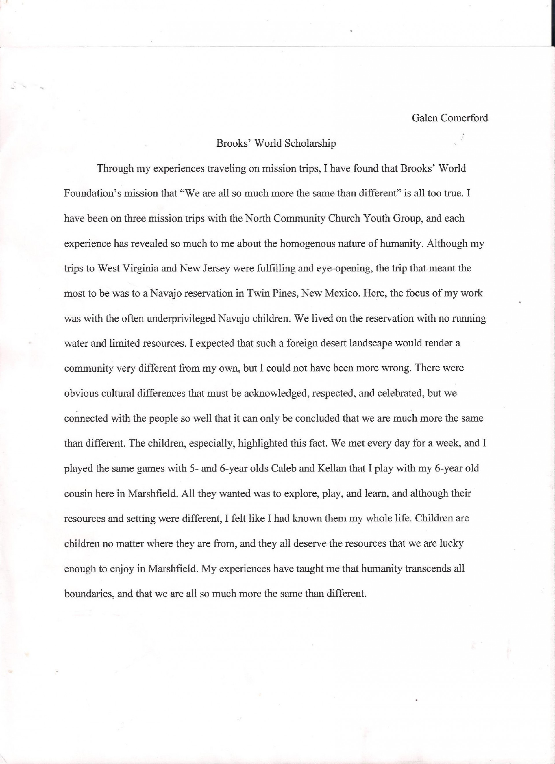 006 Scholarship Essay Examples About Career Goals Example Imposing Pdf 1920