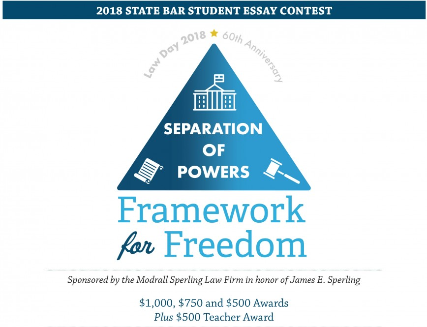 006 Separationofpowers Essay Contest Amazing Scholarships Contests For High School Students Canada College 2018