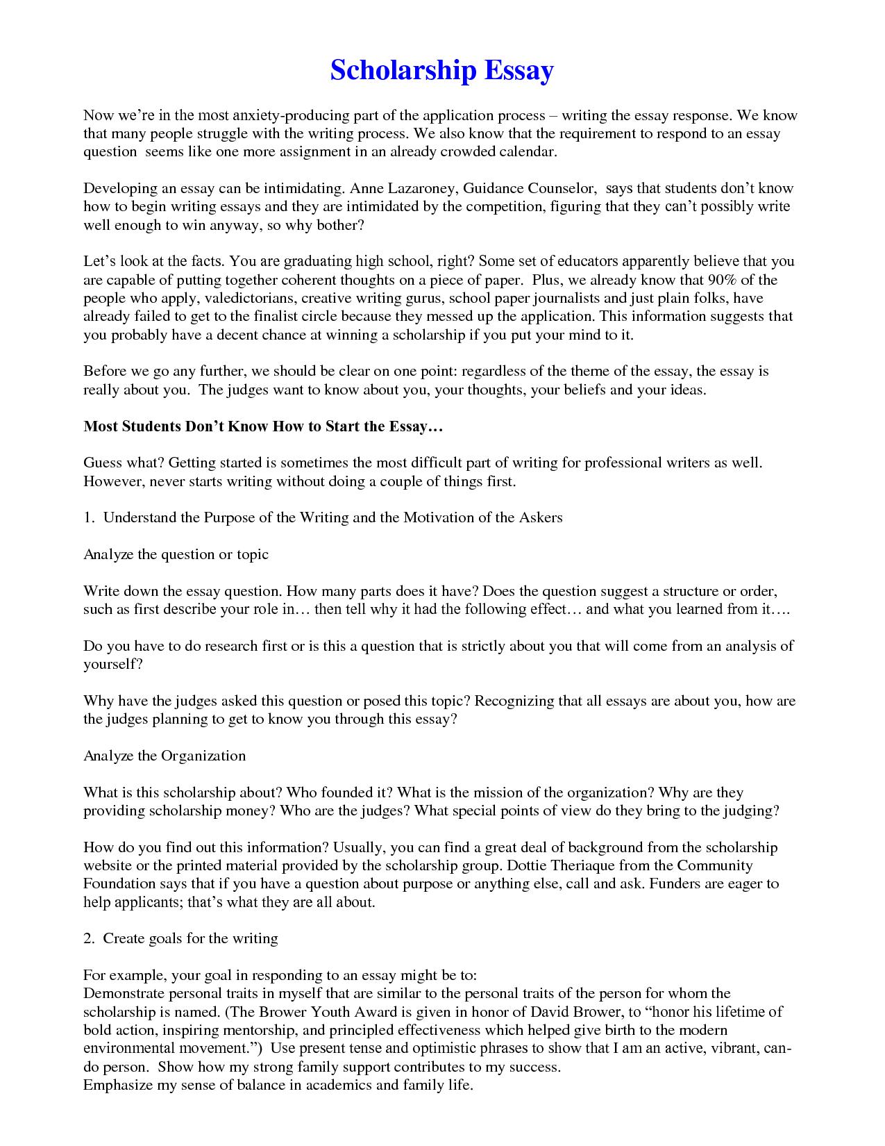 006 Sljuxuctjr Writing Scholarship Essay Sample Stunning Leadership For Mba Full