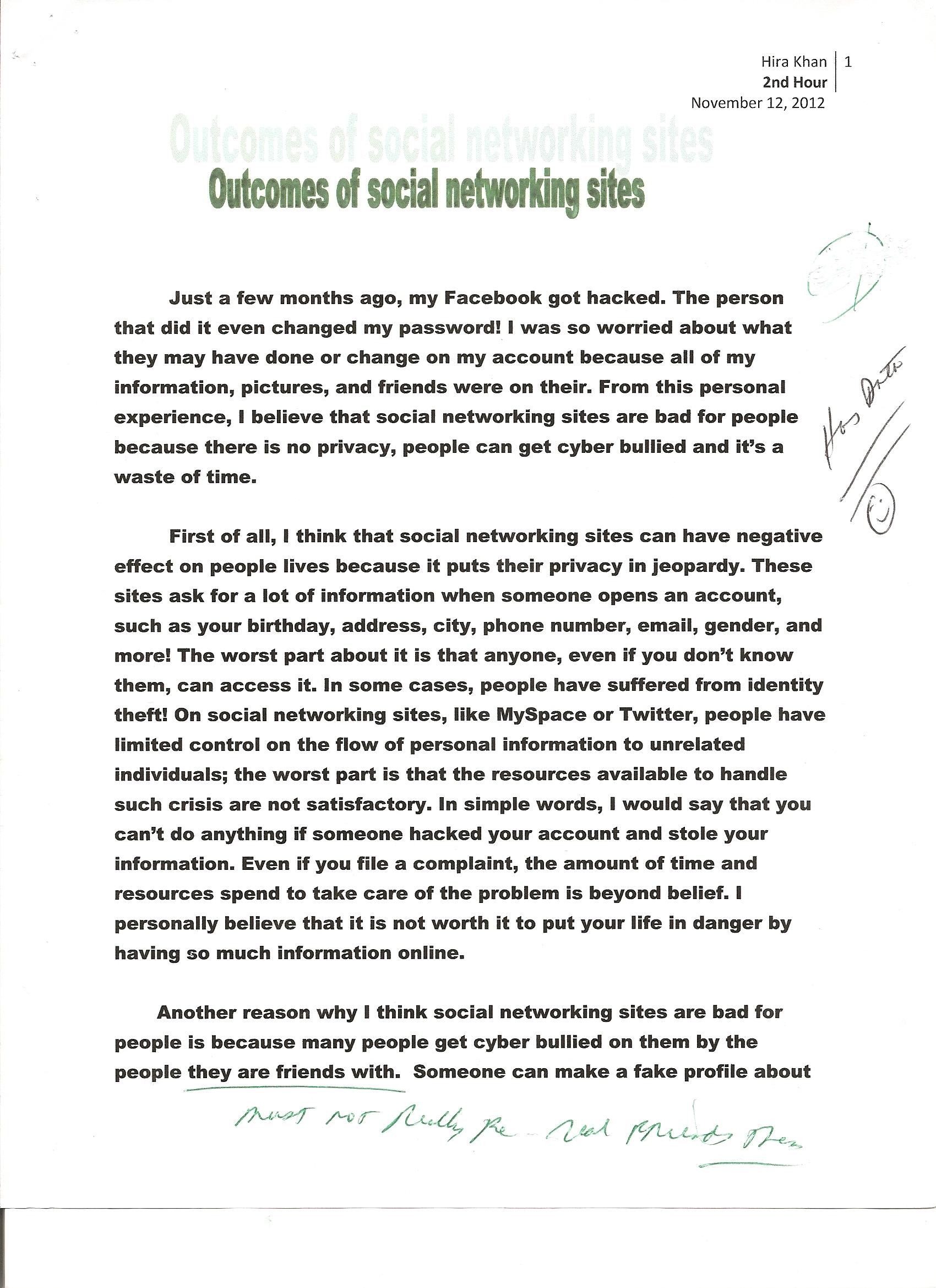 006 Social Networking 1 Descriptive Narrative Essays Remarkable Essay Examples Topics Good Full